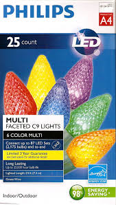 Star String Lights Indoor by Amazon Com Philips 25 Count C9 Multi Faceted Indoor Outdoor Led