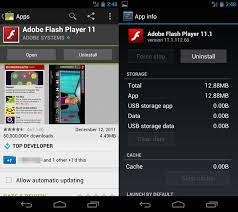 adobe flash player 11 1 for android adobe flash player updated for sandwich and galaxy nexus