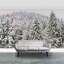 snow wall mural wall murals you ll love christmas snowy trees self adhesive wallpaper by oakdene designs stereoscopic snow mural