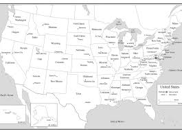 Central America Map Quiz With Capitals by Us Outline Map States And Capitals Map Of Usa States And Capitals