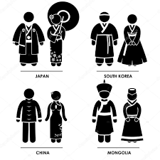 east clothing east asia japan south korea china mongolia woman national