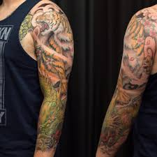 dragon tattoo on arm and shoulder asian colour archives chronic ink