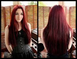 black hair redcolors dye dark red color medium hair styles ideas