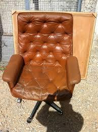 fauteuil de bureau cuir vintage fauteuil scandinave connected