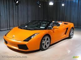 Lamborghini Gallardo Orange - 2007 lamborghini gallardo spyder in arancio borealis orange