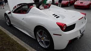 458 Spider Interior White Ferrari 458 Spider 1080p Details 458 Italia Youtube