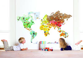 janod juratoy world map magnet stick magnetic wall collage sticker description