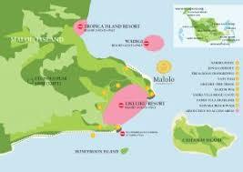 fiji resort map maps malolo island resort fiji