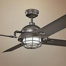 Ceiling Fan With Cage Light Caged Ceiling Fans Ls Plus
