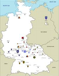 Ulm Germany Map by Cold War In Germany