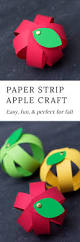 easy paper strip apple craft for kids