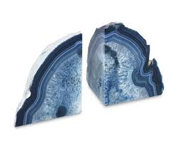agate bookends set of 2 williams sonoma