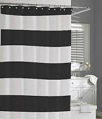 Shower Curtain Striped Black Striped Shower Curtain Foter