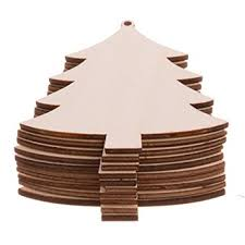 amazon com 10pcs unfinished christmas tree wood christmas
