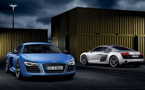 Audi R8 Blue - audi r8 v10 plus audi p8 b10 plus supercar blue silver front rear