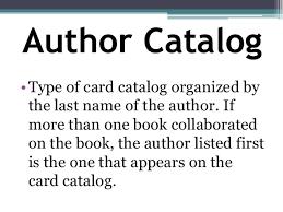card catalog grade 7