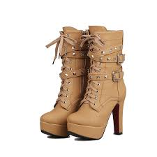 motorcycle boots buckle aliexpress com buy odetina extreme high heels black women