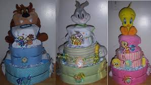 looney tunes baby shower baby shower 3 tier looney tunes cake taz tweety or bugs