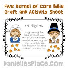 five kernel of corn thanksgiving craft from www daniellesplace