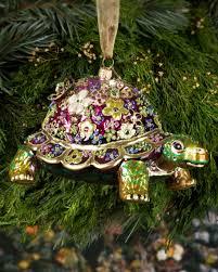 strongwater mille fiori turtle ornament