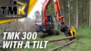 tmk tree shear 8 ton hitachi with tmk tree shear with tilting