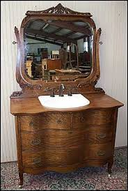 Antique Dresser Vanity Antique Vanity Bathroom Ultimate Accents Cherry Burl Bathroom