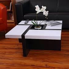 Wohnzimmer Schwarz Weis Grun Couchtisch Beistelltisch Tisch Wohnzimmertisch Holz Hochglanz