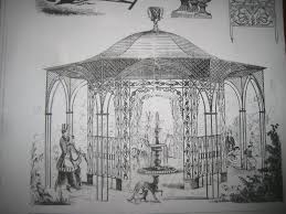 cast iron gazebo 19th century catalog showing a cast iron gazebo