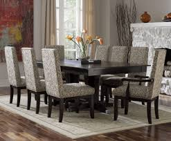 pcs modern espresso round dining table and chair set am kitchen