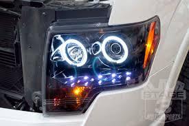 2012 ford f150 projector headlights 2009 2014 f150 raptor recon projector headlights w ccfl halos