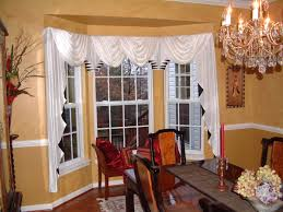 curtain ideas for dining room bay window curtain ideas for dining room treatment living small