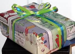 comic wrapping paper probably one of the most popular newspaper craft ideas around
