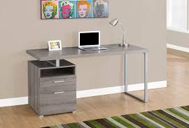 Monarch Computer Desk Computer Desk 60 L Taupe Silver Metal Monarch