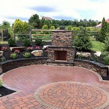 landscping gallery4 janesville brick backyard patio design emery landscaping catasauqua pa