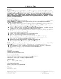 Resume Job Description by Examples Of Resumes For Management Positions
