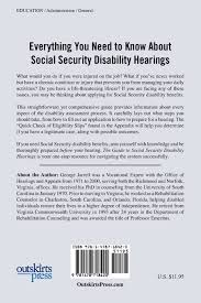 guide to social security disability hearings george r jarrell