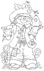 scarecrow in pumpkin patch coloring pages hellokids com new