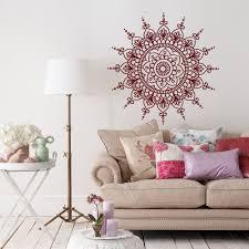 Lotus Flower Wall Decal Om by Wall Decal Mandala Vinyl Stickers Mandala Wall Decal Murals Yoga