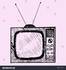 drawn tv pinart man using smart phone while hand drawn sketch