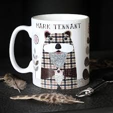 otter u0027 personalised tweed design mug by simon hart