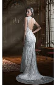 fitted wedding dresses slim fitted v neck open back lace beaded sparkly wedding dress