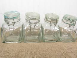 glass canister sets for kitchen vintage clear glass canisters displayjar canister candy jar