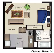 400 square feet studio apartment house design and plans