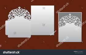 envelope border pattern wedding invitation lace border laser cut stock vector 1012318612