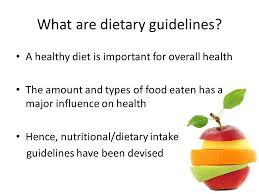 dietary guidelines for a healthy diet ppt video online download