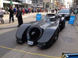 batman and the batmobile made an appearance at the downtown london