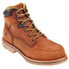 womens boots vibram sole chippewa boots l72100 s brown mocc toe lace up work boot