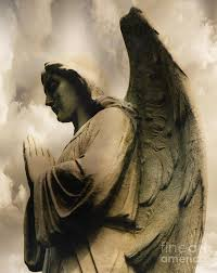 wings praying spiritual in clouds photograph by kathy