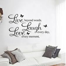 live laugh love stickers for wall home design