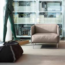 Armchair With Storage Contemporary Armchair Leather Chrome With Storage